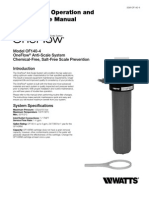 Model OF140-4 OneFlow Anti-Scale System Installation Instructions