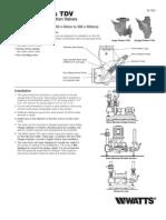 Series TDV Installation Instructions