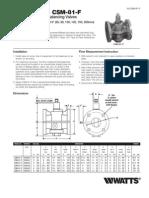Series CSM-81-F Installation Instructions