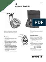 TK-99E Backflow Preventer Test Kit Installation Instructions