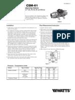 Series CSM-61 Installation Instructions