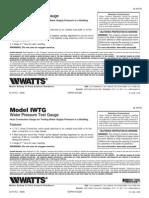 Model IWTG Installation Instructions