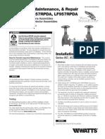 Series 957, 957RPDA, LF957RPDA Installation Instructions