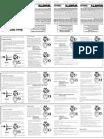 Model RBFF Installation Instructions