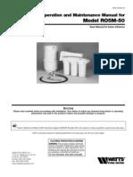 Model RO5M-50 Installation Instructions