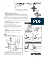 Series 1170, LF1170, L1170 and LFL1170 Installation Instructions