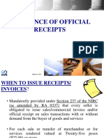 Receipts Invoices