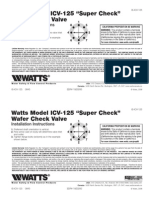"Model ICV-125 ""Super Check"" Wafer Check Valve Installation Instructions"