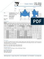 Classic Series F100 (Globe), F1100 (Angle) Specification Sheet