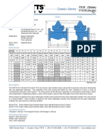 Classic Series F518 (Globe), F1518 (Angle) Specification Sheet