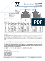 Stainless Series S518 (Globe), S1518 (Angle) Specification Sheet