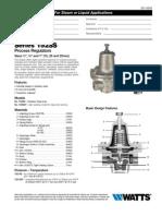 152SS Series PROCESS REGULATORS Specification Sheet