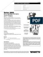 Series 288A Specification Sheet