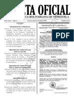 Gaceta Oficial 41672 Sumario