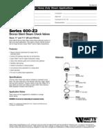 Series 600-Z3 Specification Sheet