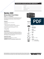 Series 600 Specification Sheet