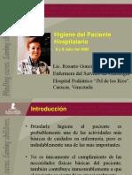 2005 Higiene Del Paciente Hospitalario
