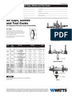 Air Gaps, Elbows and Test Cocks Specification Sheet
