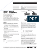 Series B6010, B6011 and B6013 Specification Sheet
