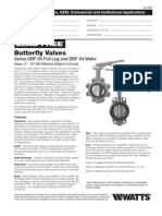 Butterfly Valves Series DBF-03 Full Lug and DBF-04 Wafer Specification Sheet