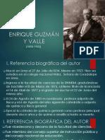 Enrique Guzmán y Valle Diapositiva