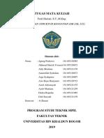 Struktur Bangunan Air (SIl 332) Tugas Kelompok 1 universitas Ibn Khaldun Bogor