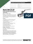 Model FBV-3C-QC Specification Sheet