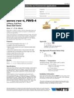 Series FBV-4, FBVS-4 Specification Sheet