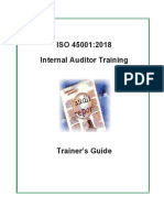 45001 2018 InternalAuditTrainer Guide Sample