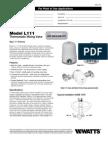 Model L111 Specification Sheet