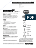 Series LF601, LF601S Specification Sheet