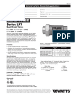 Series LF7 Dual Check Valves Specification Sheet