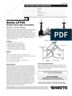 Series LF709 Double Check Valve Assemblies Specification Sheet