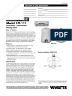 Model LFL111 Specification Sheet