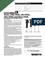 Series LFSL100XL, LFL100XL, LFLL100XL and LFLLL100XL Specification Sheet