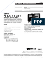 Series PG-2, 3, 4, 5 and 6 Specification Sheet