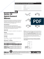 Lead Free Series 35 Quick-Connect Elbows Specification Sheet