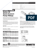 Lead Free Series 35 Quick-Connect Pump Fittings Specification Sheet