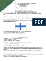9th maths paper ICSE