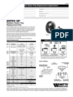 Series QF Radiator Steam Trap Replacement Kits Specification Sheet