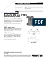 Lead Free Series W-SPL and W-FLG Make Up Spools and Flanges Specification Sheet
