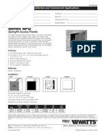 Series APU SpringFit Access Panels Specification Sheet