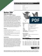 Series TDV Specification Sheet