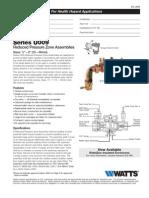 Series U009 Specification Sheet
