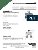 Model WAS Specification Sheet