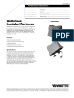 WattsRock Insulated Enclosure Specification Sheet
