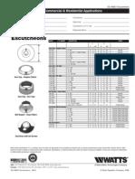 Escutcheons Specification Sheet