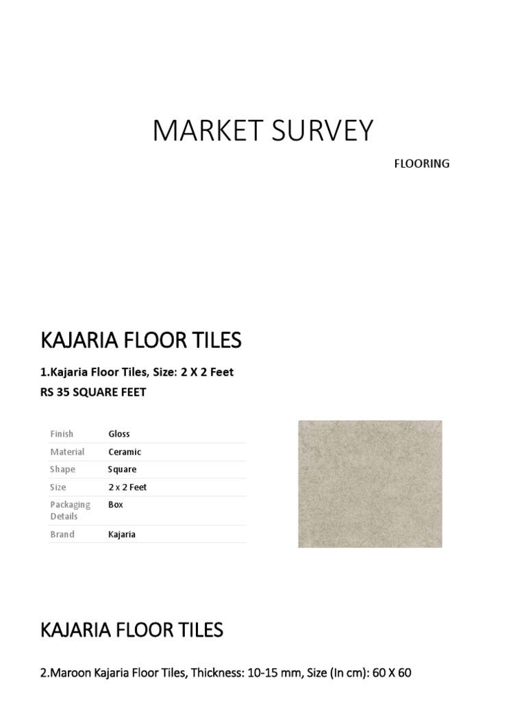 MARKET SURVEY FLOORING.pptx  Tile  Flooring