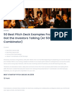 50 Best Pitch Deck Examples from 2018   YC & 500 Startups