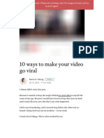 10 Ways to Make Your Video Go Viral – This Happened to Me – Medium